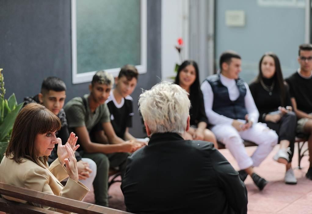 Θεσσαλονίκη: Το Κέντρο Νεότητας επισκέφθηκε η Πρόεδρος της Δημοκρατίας