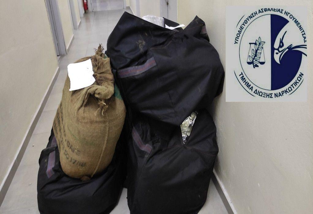 Πρέβεζα: Έκρυβαν 107 κιλά κάνναβης σε σάκους σε θάμνους παραλίας (VIDEO)