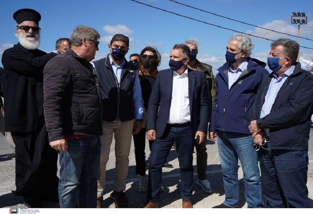 Κρήτη: Επίσκεψη Χ. Στυλιανίδη στις σεισμόπληκτες περιοχές (ΦΩΤΟ)